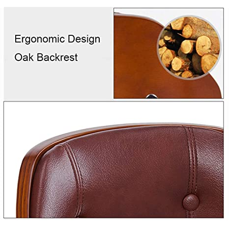 Amazon.com: Barture Leatherette Oak Adjustable Hydraulic Bar ...