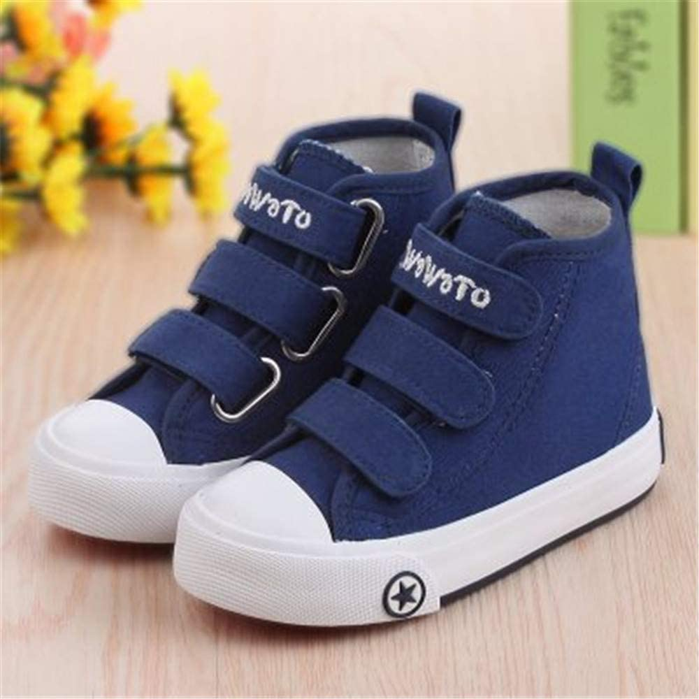 Toddler//Little Kid//Big Kid MODEOK High Top Canvas Shoes Kids Toddler Girls Boys Sneakers Lace up School Canvas Shoes