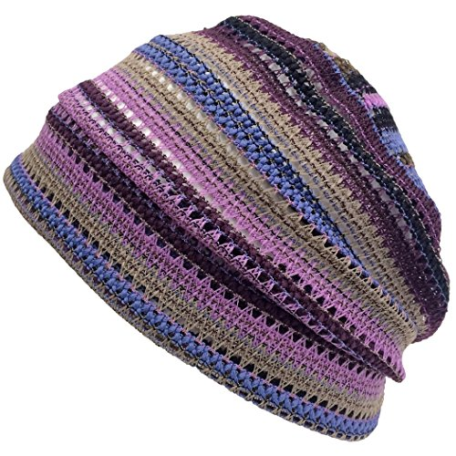 Casualbox Charm Crochet Beanie Hat Summer Mesh Tie Dye Fashion Skull Cap Unisex Cool - Cool Beanies