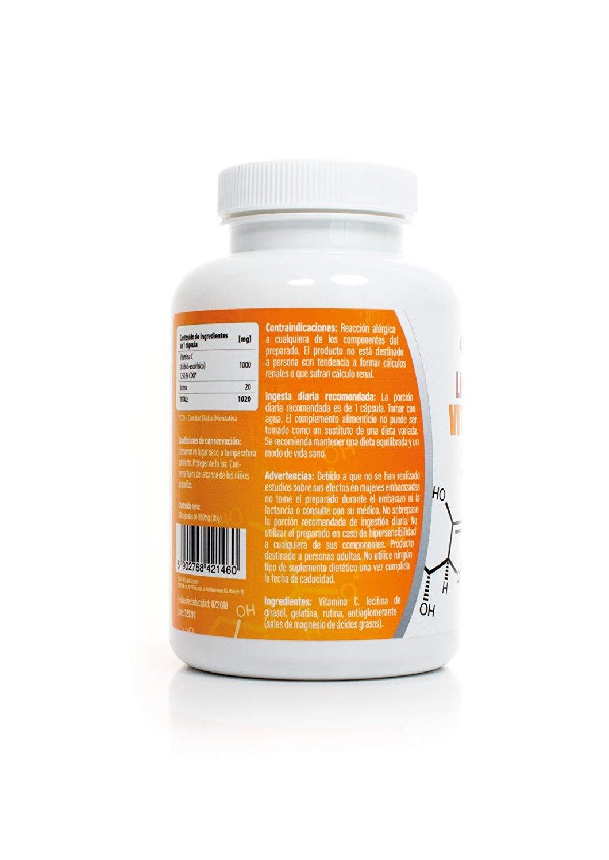 Vitamina C 1000mg +Rutina Liposomal 100 Cápsulas: Amazon.es: Salud y cuidado personal