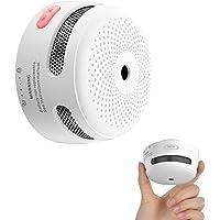 X-Sense Mini Smoke Alarm, 10-Year Battery Fire Alarm Smoke Detector with LED Indicator & Silence Button, XS01