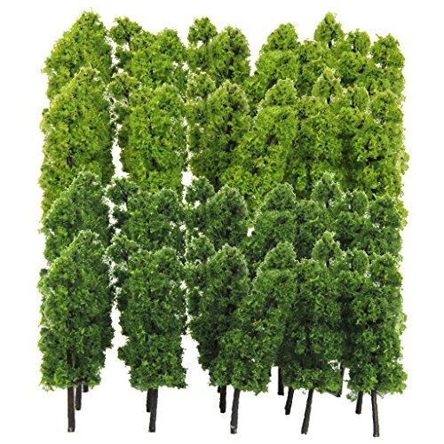 - Jili Online Pack of 40 Model Trees N Scale DIY Layout Train Landcape Scenery Accessories 7.7cm/3'' 1/150 N Scale