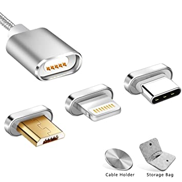 COCHING Magnetic Cable Magnet USB Charging Cable Micro USB Lightning ...