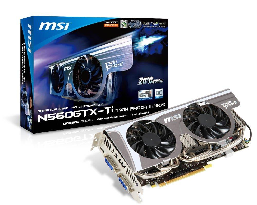 MSI GeForce GTX 560 Ti 2GB GDDR5 - Tarjeta gráfica (GeForce ...