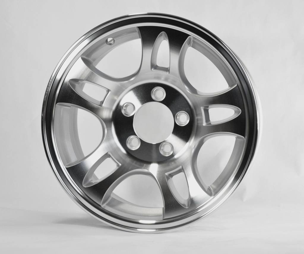 HWT S556545 15X6 5/4.5 Aluminum S5 Trailer Wheel