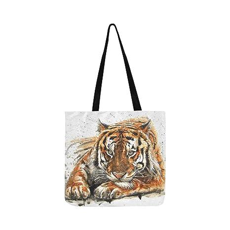 Tigre de Bengala En Bosque Mostrar Cabeza y Pierna Lienzo ...
