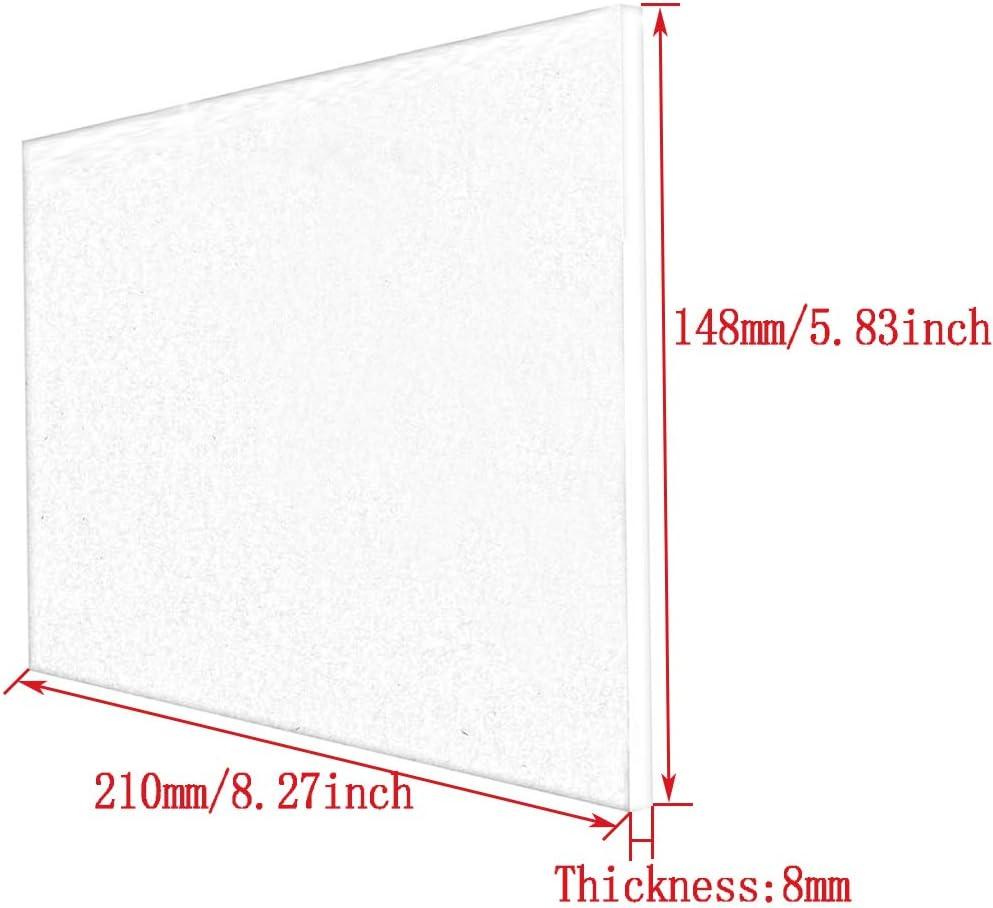 Thickness 8mm,200x300mm Dumadf Blue-Clear Acrylic Plexiglass Plastic Sheet Transparent Organic Glass Tinted Board DIY Crafts Moldable Panel