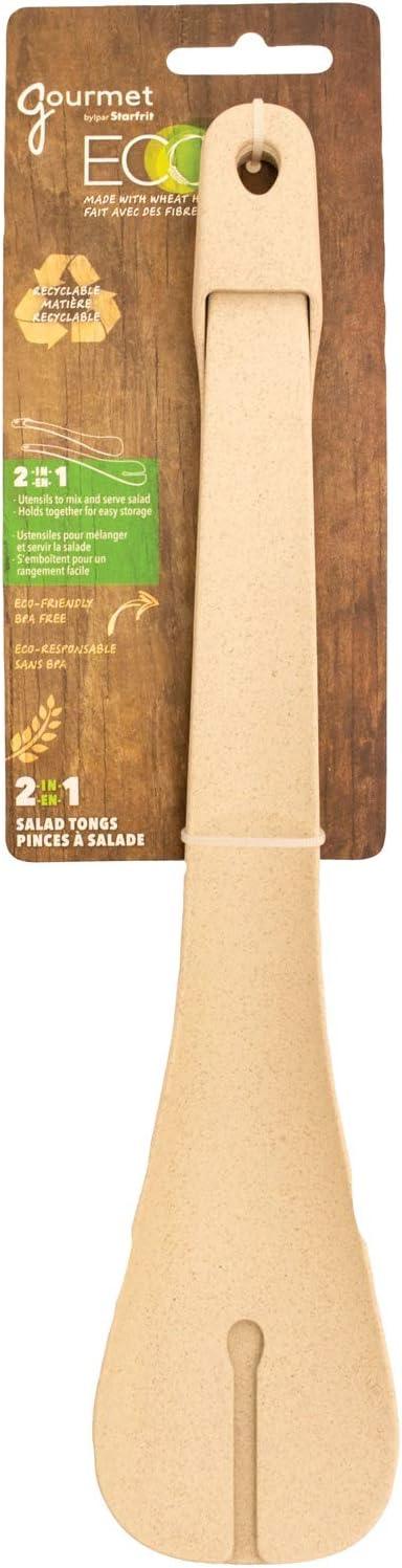 Standard Tan Starfrit Gourmet 080280-006-0000 ECO 2-in-1 Salad Tong