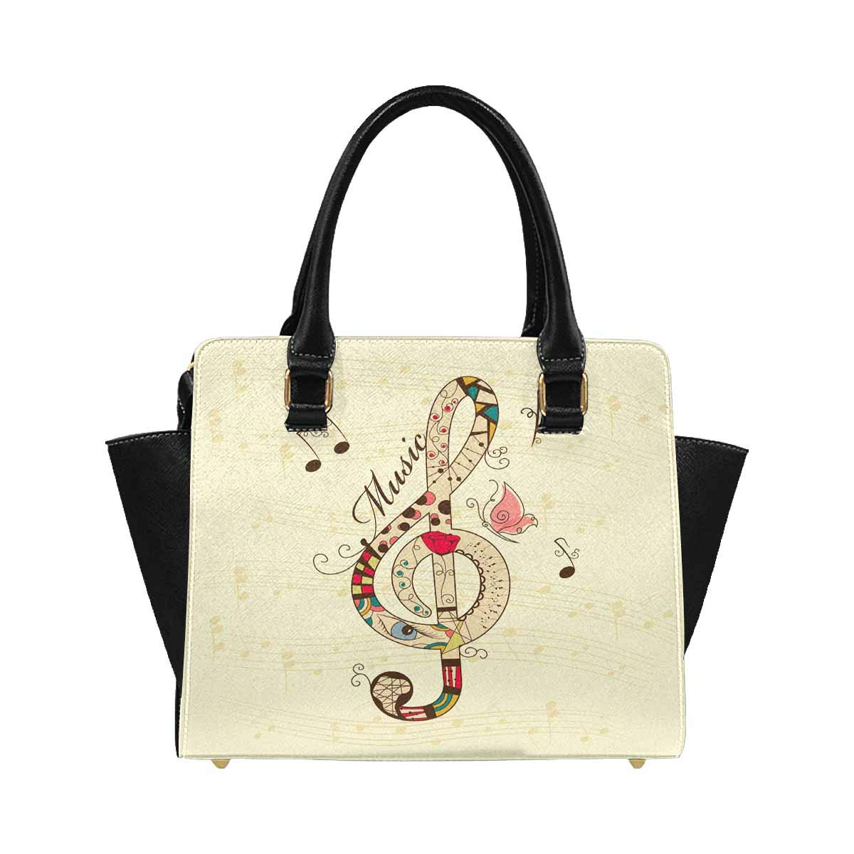 InterestPrint Womens Musical Signs Rivet Shoulder Handbag Shoulder Bags