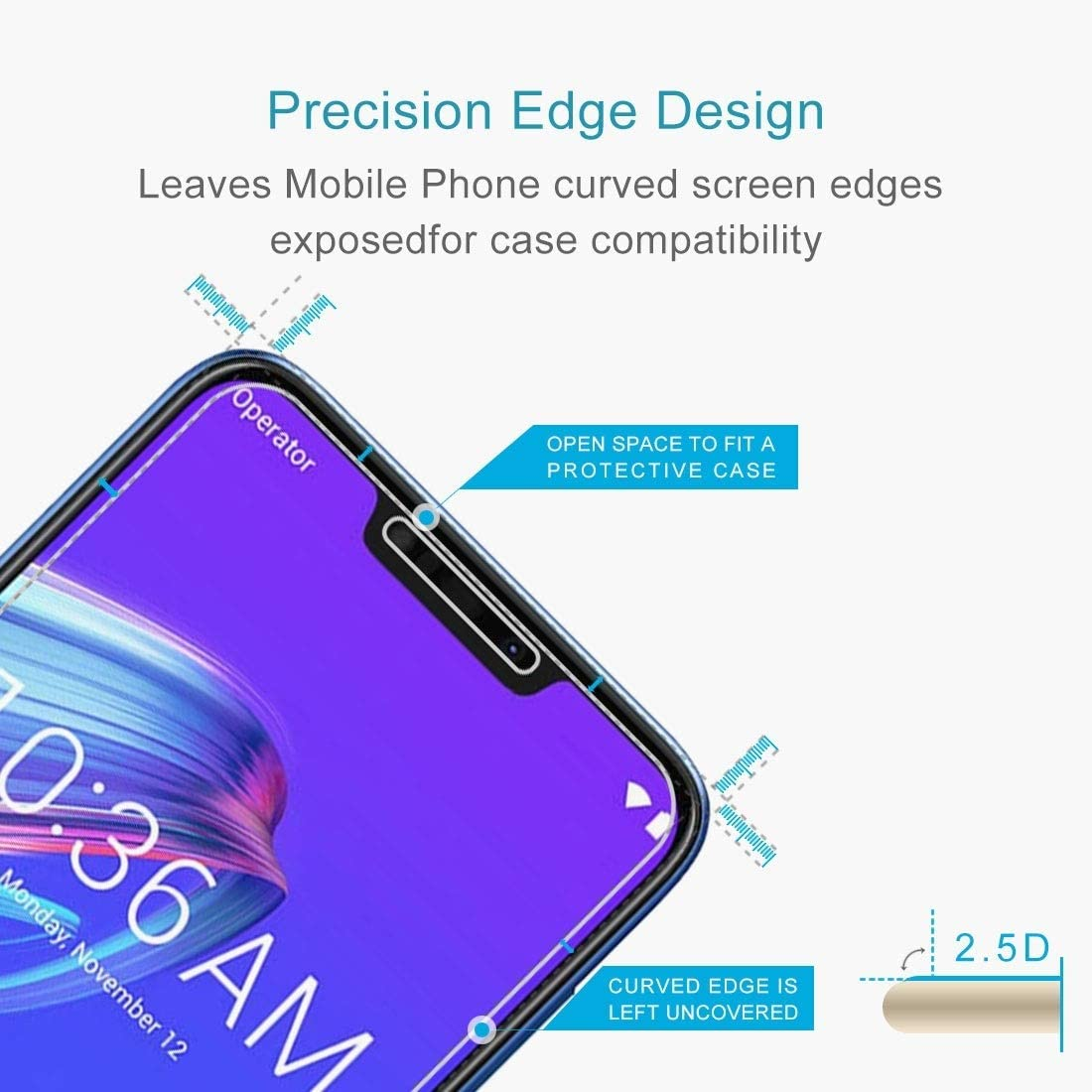 ZB633KL Anti-Scratch M2 ZENGMING Tempered Glass Film Screen Protector 100 PCS 0.26mm 9H 2.5D Tempered Glass Film for Asus Zenfone Max