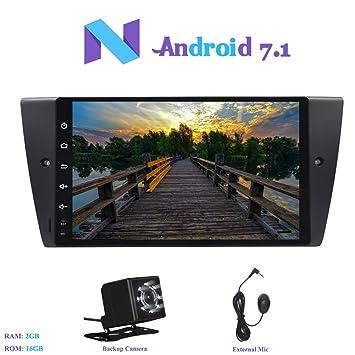 Android 7.1 Autoradio, Hi-azul 1 DIN Radio de Coche 9 Pulgadas RAM 2G