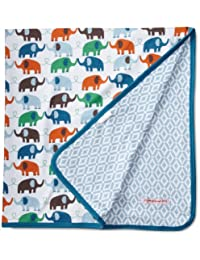 Magnificent Baby Boy's Elephant Reversible Blanket, Marrakesh/Elephant, One Size, 1-Pack