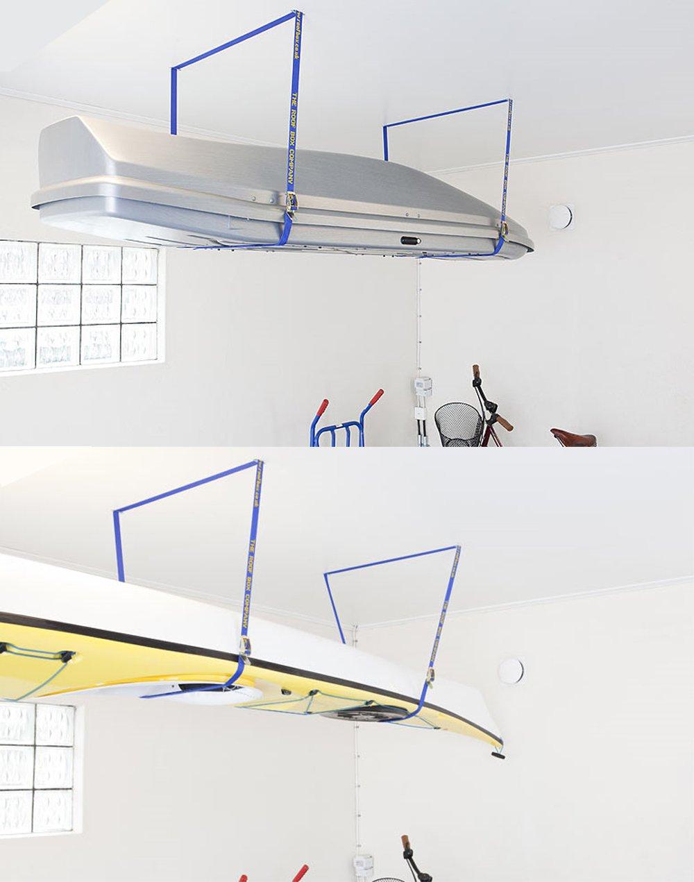 Fasty - Box Lift Straps/Garage Storage Lift/Cargo Lift - 2 Straps - 12' Long, 1'' Wide - OSHA 100 lb - Strength 300 lb