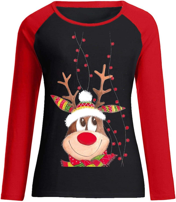 Rmeioel Halloween Women Casual Fashion Off Shoulder Round Neck Long Sleeves Shirt Top Blouse Pullover Sweatershirt Black