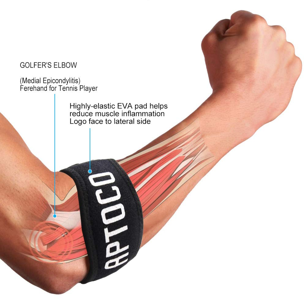Tennis Elbow, Aptoco Support For Tendonitis Treatment, Golf Elbow With Compression Pad, Arm Support Pain...
