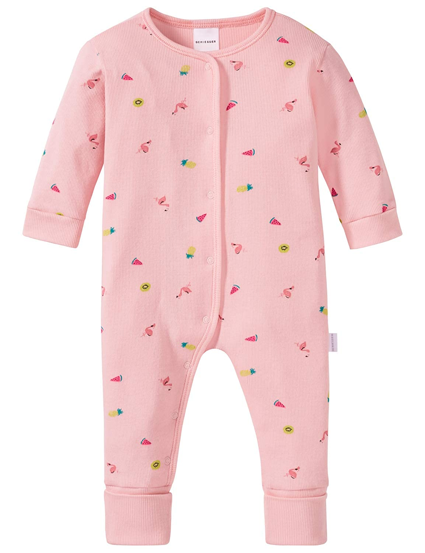 Schiesser Baby-M/ädchen Einhorn Anzug mit Fu/ß Zweiteiliger Schlafanzug