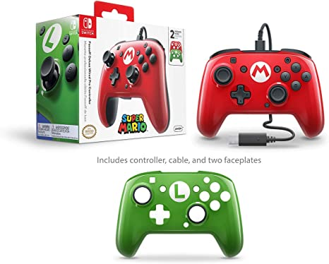 PDP - Mando Pro Deluxe Faceoff Mario, Luigi Edition (Nintendo ...