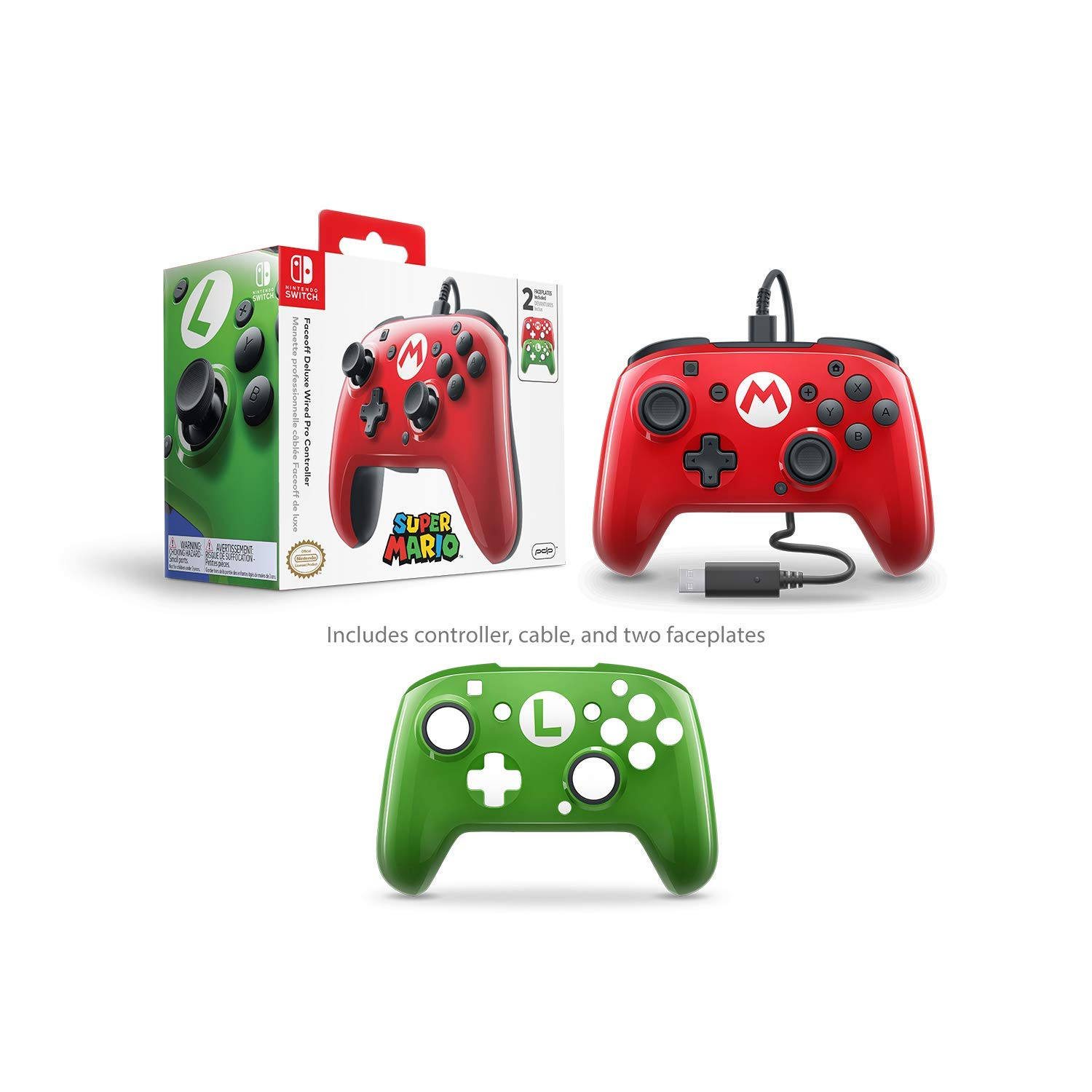 Amazon Com Pdp Nintendo Switch Faceoff Wired Pro Controller With