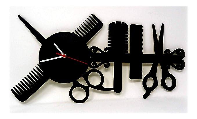 Individuali in legno orologio da parete regalo forbici da