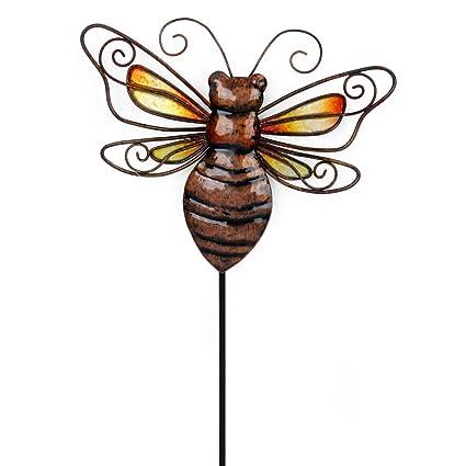Amazon.com: OBI Metal Bee Garden Stake o Wall Sign – Pequeño ...