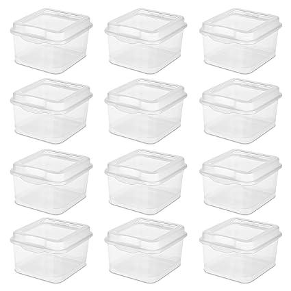 STERILITE 18038612 Flip Top Clear 12-Pack  sc 1 st  Amazon.com & Amazon.com: STERILITE 18038612 Flip Top Clear 12-Pack: Home u0026 Kitchen