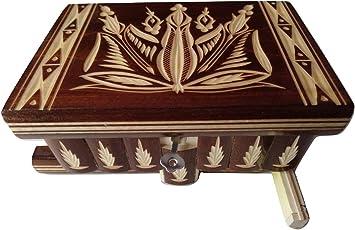 Nueva hermosa caja mágica, misteriosa caja, puzzle caja, caja secreta, hecha a mano, casilla complicado, caja de madera tallada, regalo perfecto, juguete de madera (Marron): Amazon.es: Juguetes y juegos