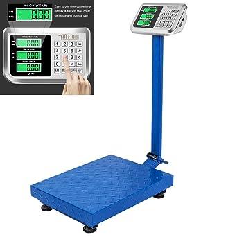 Amazon.com: 300 kg / 660 lb Plataforma Escala Informática ...