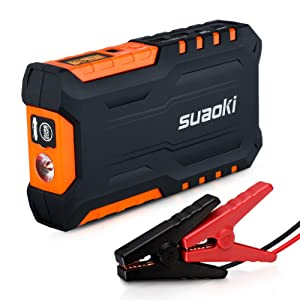Suaoki G7 18000mAh Booster Batterie 600A Peak Booster de Démarrage Car Jump Starter Multi-fonction Eléctrique d'Urgence pour Voiture/ Téléphone