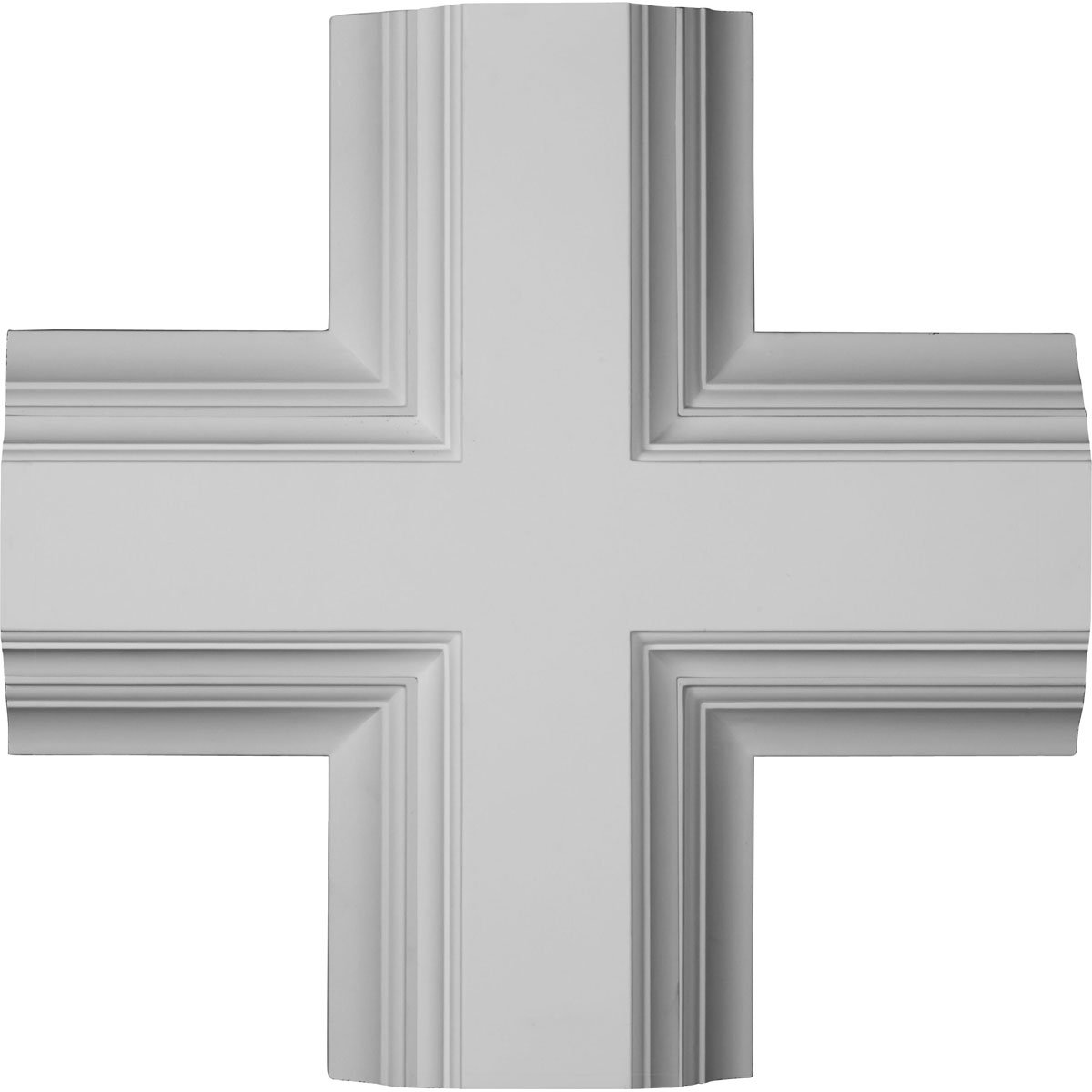 Ekena Millwork CC08ICI04X20X20DE 20''W x 4''P x 20''L Inner Cross Intersection for 8'' Deluxe Coffered Ceiling System (Kit)
