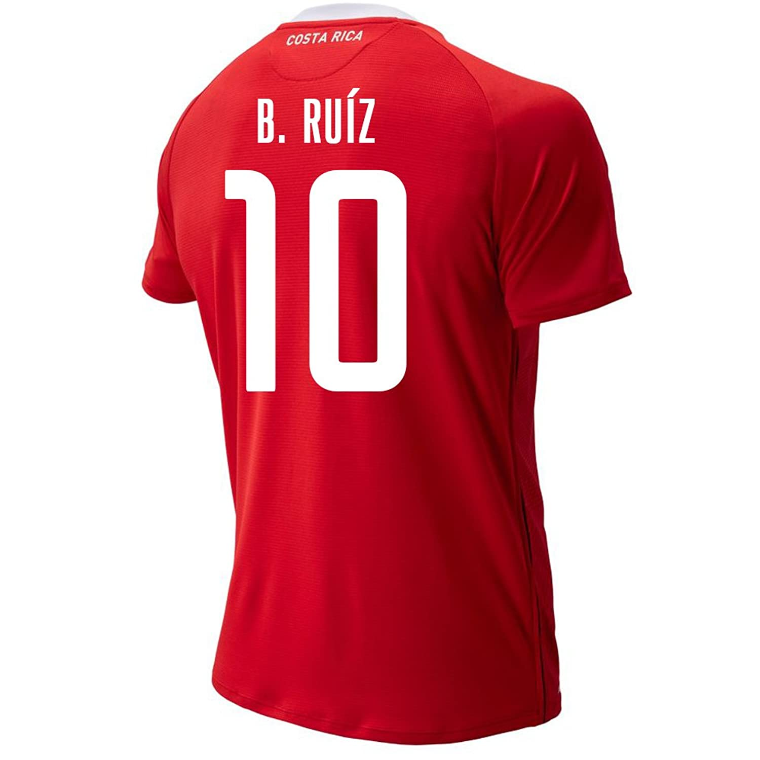 New Balance Men's B. Ruiz #10 Costa Rica Home Soccer Jersey FIFA World Cup Russia 2018/サッカーユニフォーム コスタリカ ホーム用 ルイス #10 B07CZ43JCV US 2X-Large