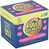 Rule Breaker Snacks, Chocolate Chunk Blondie, Healthy and Unbelievably Delicious, Vegan, Gluten Free, Nut Free, Free from Top Eight Allergens, Kosher (4ct pack)