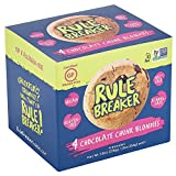 Rule Breaker Snacks, Chocolate Chunk Blondie, Healthy and Unbelievably Delicious, Vegan, Gluten Free, Nut Free, Free from Top Eight Allergens, Kosher (4ct pack) For Sale