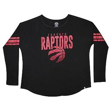 Plus tamaño de la NBA Toronto Raptors para mujer manga larga cuello redondo Loose Fit Camisa XXL negro: Amazon.es: Deportes y aire libre