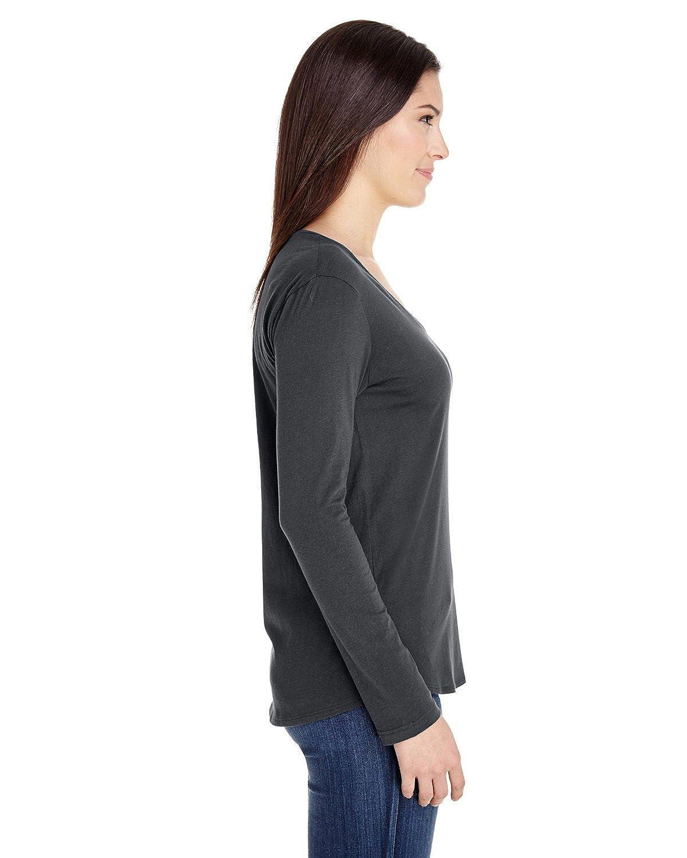 American Apparel Womens Long Sleeve Ultra Wash Tee