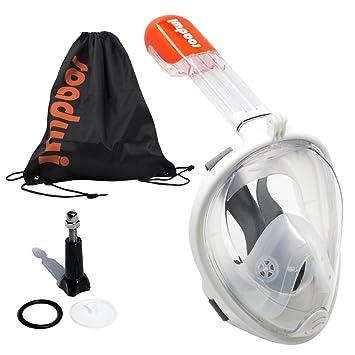 8b13d5178de8e5 Masque de Plongée, ROADWI Masque Snorkeling Lunettes de Plongée Masque  Complet Visage 180° Visible