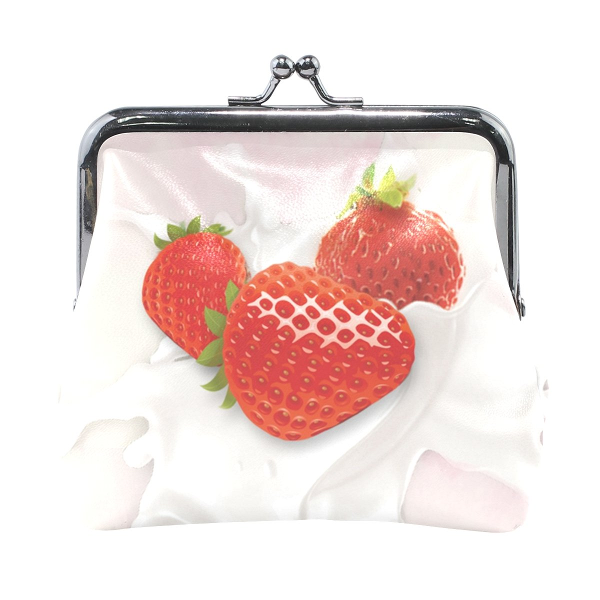 Amazon.com: portafolios lindo mujer Fresa leche cartera ...