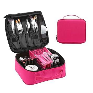 Neceser Maquillaje, esonmus Bolsa de Cosméticos Organizador Estuche de Maquillaje Profesional con Compartimento Separable Para Hogar Vacaciones Viaje ...