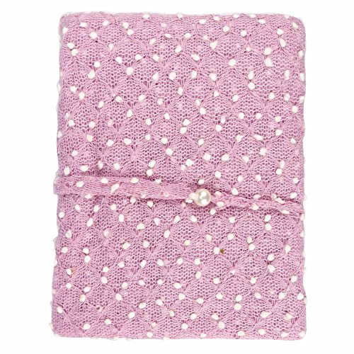 TiaoBug Newborn Baby Mohair Knit Wrap Cloth Blanket with Headdress Photography Photo Props Lavender One Size