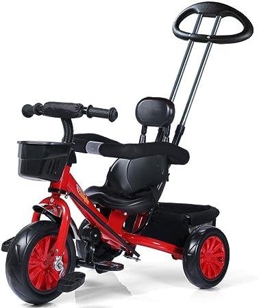 Triciclo para niños 1-5 años Bicicleta para bebés Cochecito para bebés Carro para niños Bicicleta, Rojo, 85 * 50 * 100cm: Amazon.es: Hogar