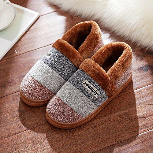 femmina camera della Il caffè2 di Home spessore caldo pantofole antiscivolo soggiorno pacchetto spessore maschio invernale Inverno con coppia cotone DogHaccd high pantofole Il di PS4wqX