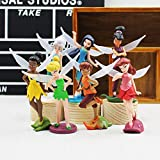 Game, Fun, 7Pcs/lot Anime Tinkerbell Collectibles Dolls Set Tinker Bell Fairies Pvc Action Figures Kids Toys For girl Children, Toy, Play