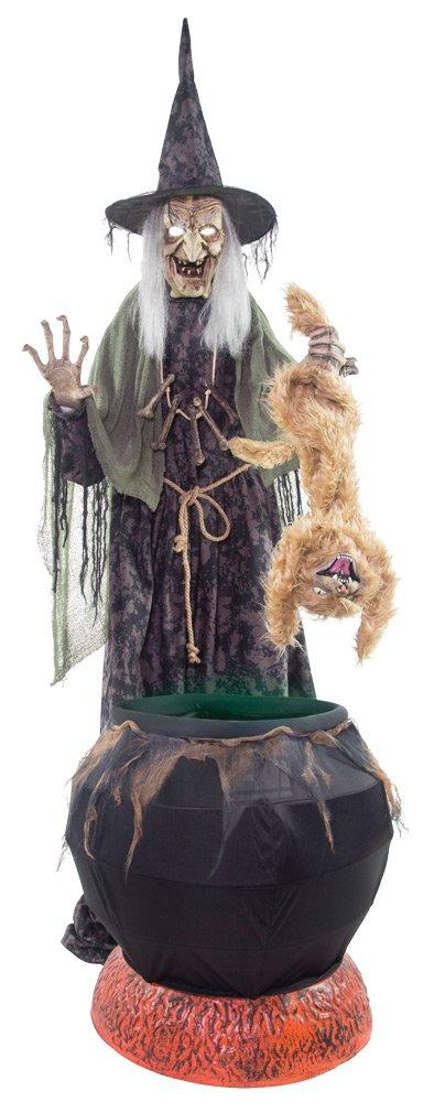 Cauldron Cat-tastrophe with Fog Machine
