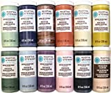 Martha Stewart Crafts Vintage Decor Matte Chalk Paint Set (8-Ounce), PROMO866 (12 Color)