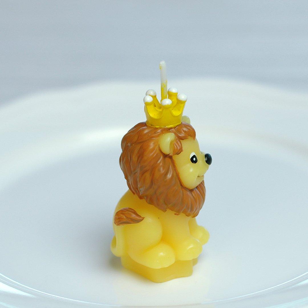 Creative rey León Cartoon Vela de cumpleaños, sin humo vela ...