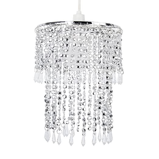 Elegant Modern Sparkling Chrome Acrylic Crystal Jewel Bead Effect ...