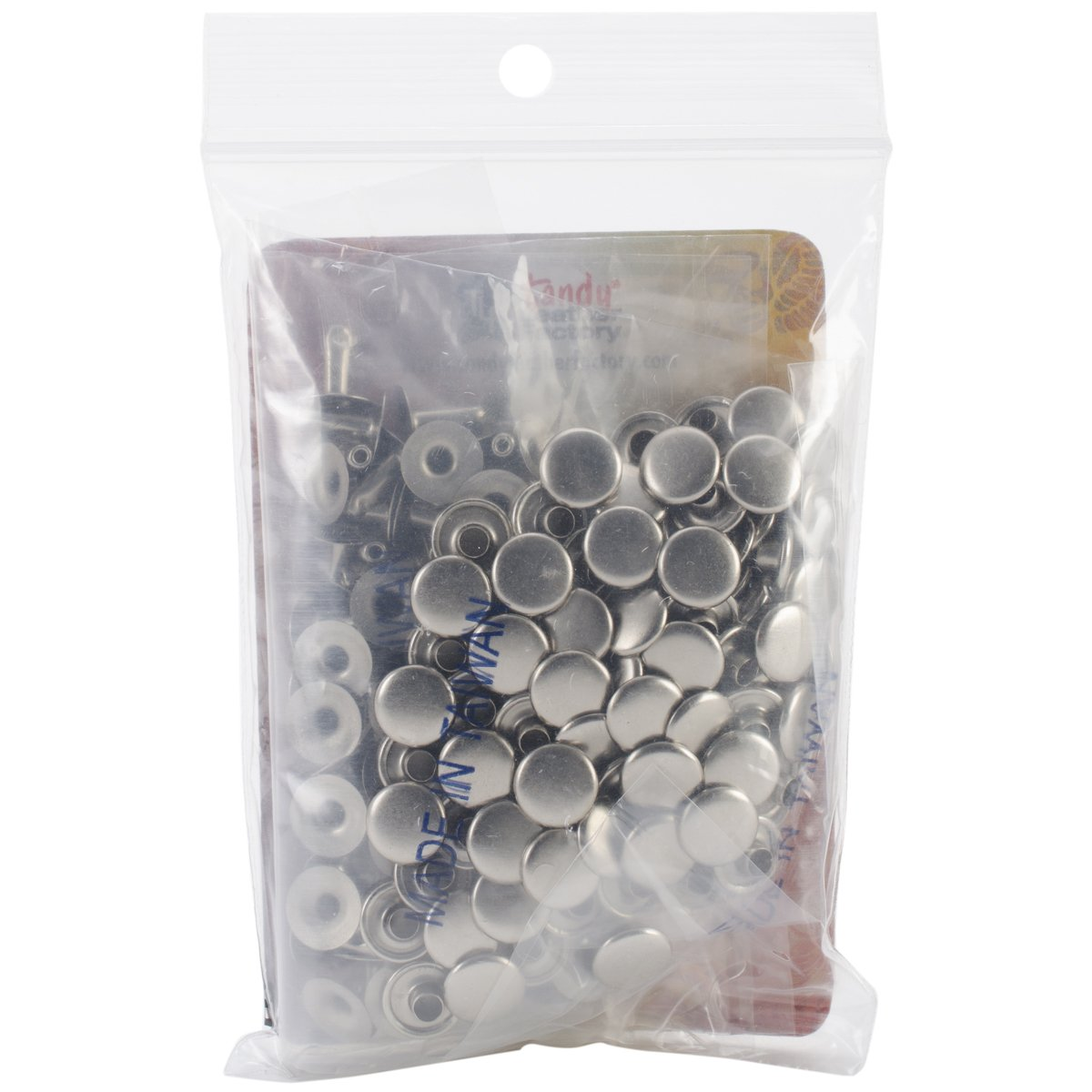 Tandy Leather Factory 1273-12 Rapid Rivets Nickel Plated, Medium