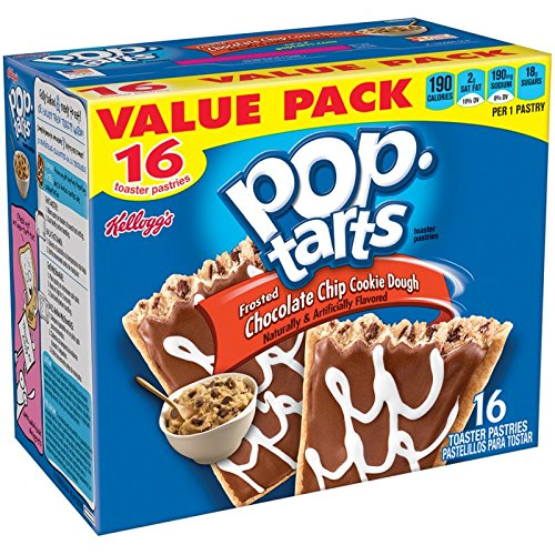 Pop-Tarts Toaster Pastries, Frosted Chocolate Chip Cookie Dough 16 Toaster 28.2 OZ