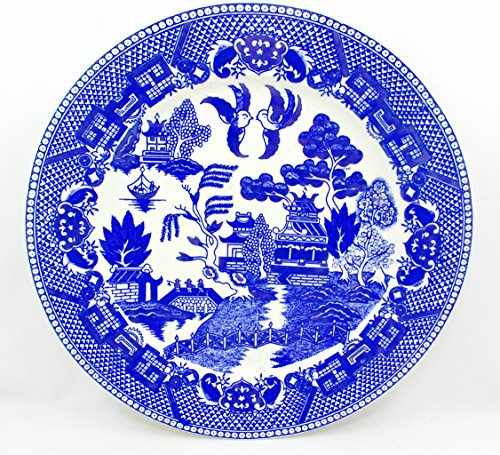 Vintage Occupied Japan - Vintage Occupied Japan 1950's Blue Willow Dinner Plate,9.1