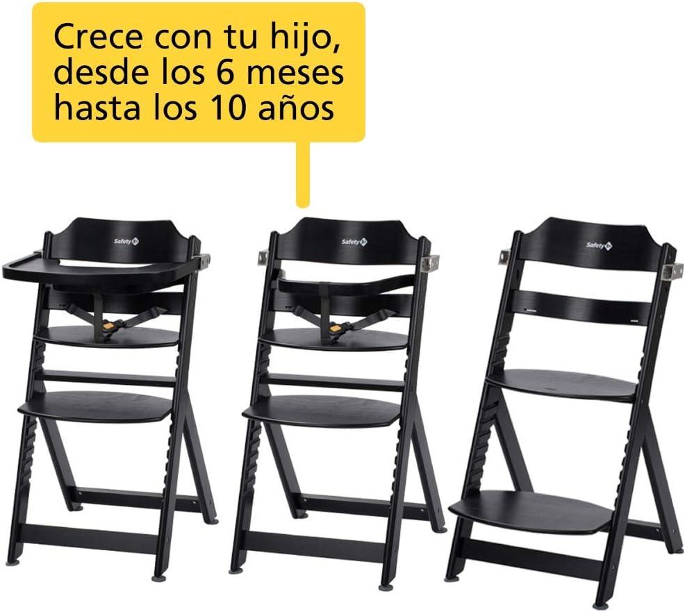 m/áx. 30 kg Trona de madera Safety 1st mesa extra/íble, desde los 6 meses hasta aprox. 10 a/ños Negro
