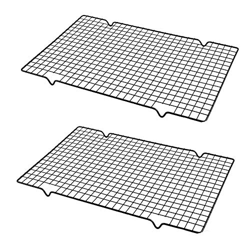 Store2508 Rectangle Non Stick Wire Cooling Grid Rack Baking Tools Pack of 2